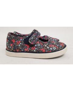 Seconds StartRite Blossom Navy Canvas Shoe UK12.5