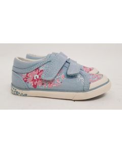 Seconds StartRite Flower Blue Canvas Shoe UK 10.5