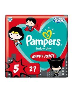 Pampers BabyDry Superhero Nappy Pants Size 5 27pk