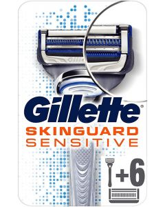 Gillette SkinGuard Sensitive Razor & 6 Blades