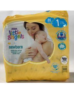 Asda Little Angels Newborn Nappies Size 1 6x24pk