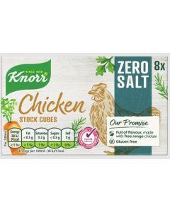 Knorr Chicken Stock Cubes Zero Salt 24 x 8pk