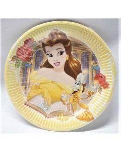 Disney Princess Belle 23cm Paper Plates 25 × 8pk