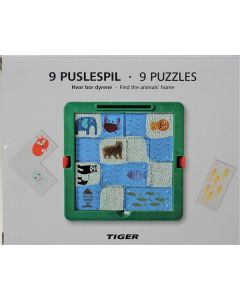Tiger Find the Animals Homes Puzzle 24pk