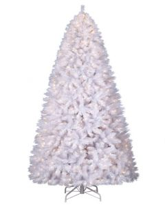 White Christmas Tree 6' with Clear Lights