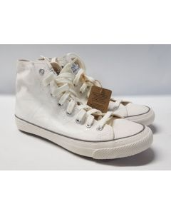 Po Zu Hi Tops  Butterfly Sneaker Eco White UK8.5