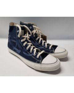 Po Zu Hi Top Laceup Butterfly Sneaker Indigo UK8.5