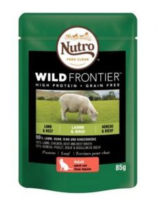 Nutro Wild Frontier Cat Food Lamb & Beef24x85g