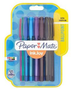 Papermate Inkjoy Assorted Ballpoint Pens 18pk