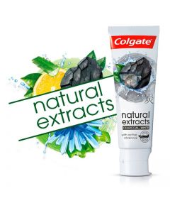 Colgate Natural Extracts Charcoal & White 12x75ml