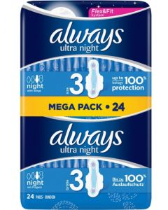 Always Ultra Night with Wings 24 x 6pk