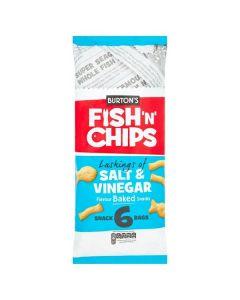 Burtons Fish'n'Chips Salt & Vinegar Crisps 30x6pk