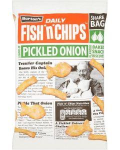 Burtons Fish'n'Chips Pickled Onion Crisps 10x125g
