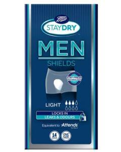 Boots Staydry Men Light Shields One Size 14pk