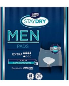 Boots Staydry Men Extra Pads 10pk