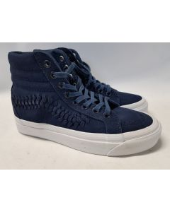 Vans Unisex SK8 Hi Weave Suede Dress Blue EU36