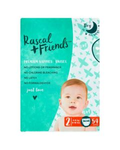 Rascal & Friends Premium Nappies Size 2 2x54pk