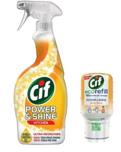 Cif Power & Shine Kitchen 700ml & Eco Refill